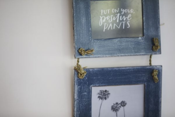 Double Hanging Photo Frame - Blue