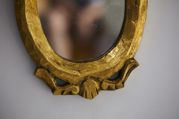 Gold Vintage Oval Mirror