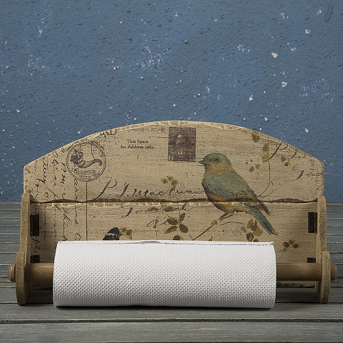 Wooden Bird Painted Holder