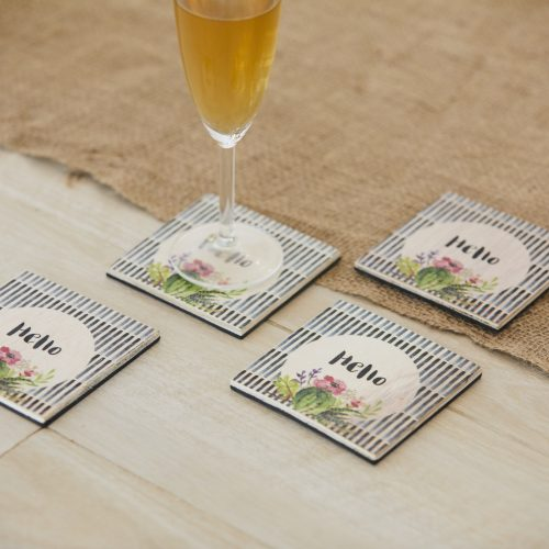 Hello Coasters Set of 4