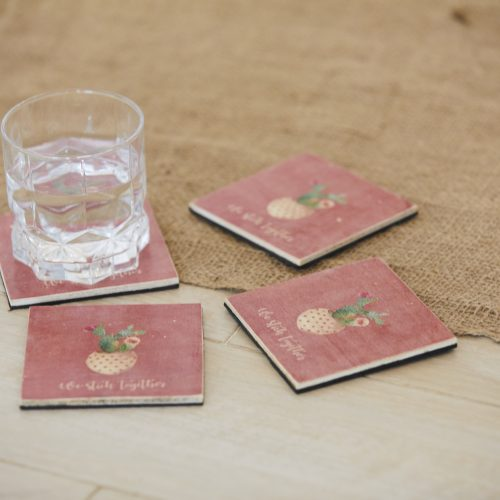 We Stick Together Coasters Set of 4