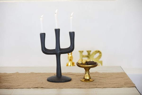 Black Cacti Candle Stand