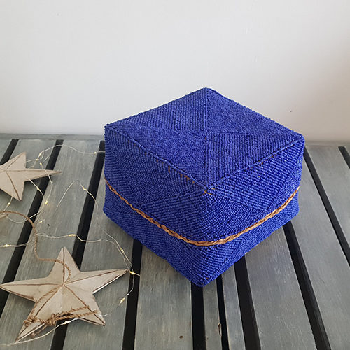 Blue Beaded Box