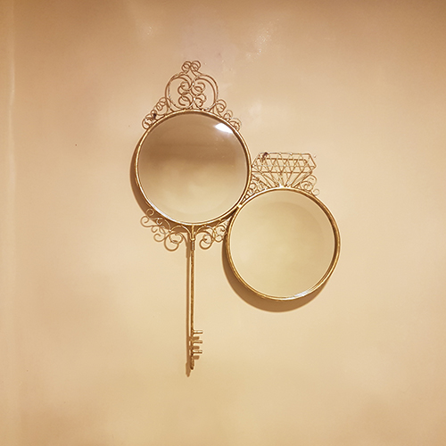 Key And Diamond Mirror