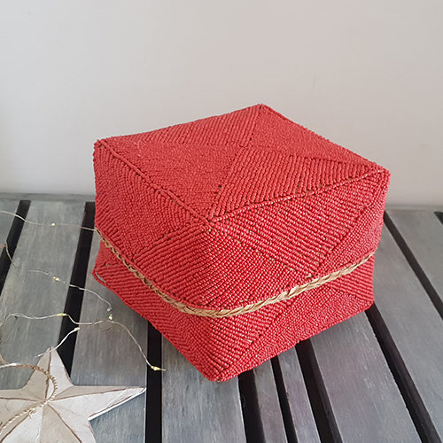 Red Beaded Box