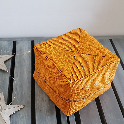 Orange Beaded Box