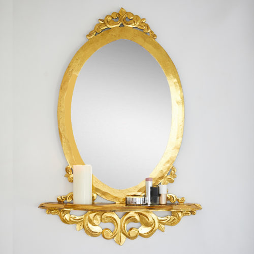 Golden Wall Mirror